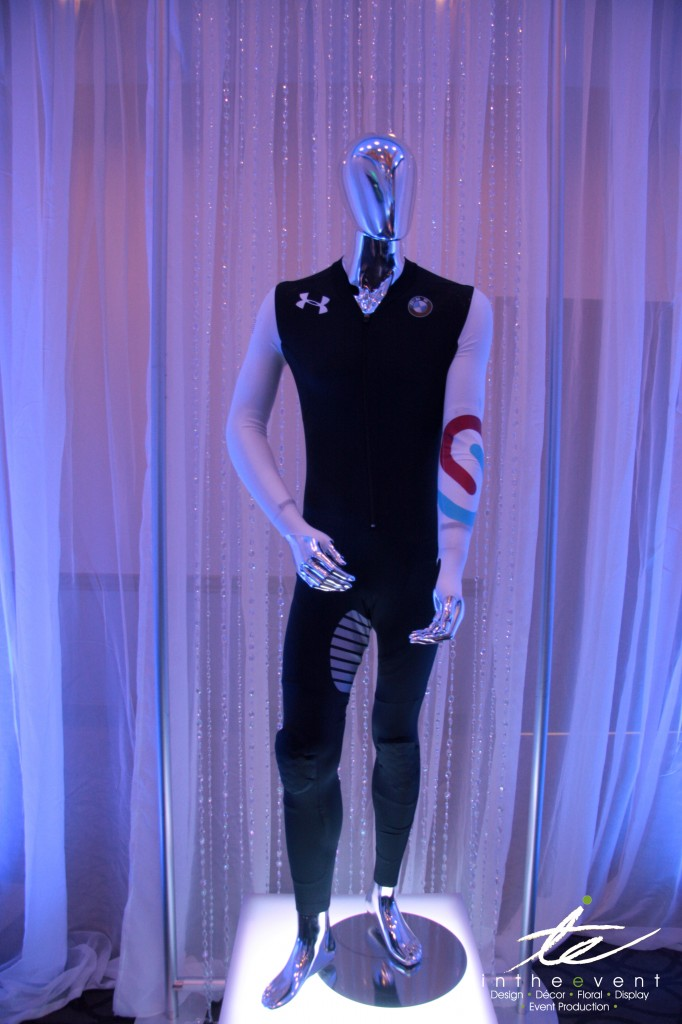 Chrome Mannequin with Speedskating suit transform Modern Event Decor: Transform Your Space Chrome Mannequin with Speedskating suit