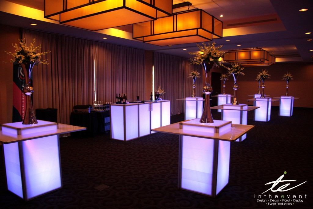 LED Hi-Boys LED Using LED Furniture To Brighten Your Event Cocktail Reception 1