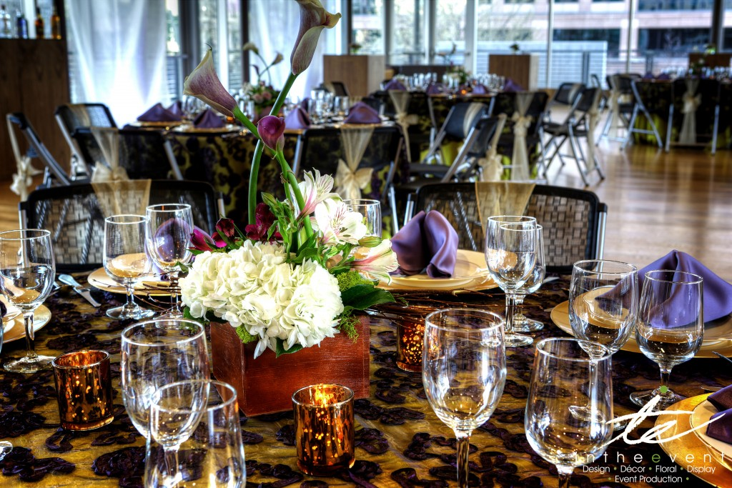 Dining-Table-with-Floral-Centerpiece Design Your Event, Our Interior Design Dining Table with Floral Centerpiece