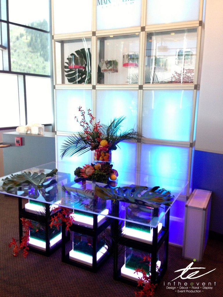 LED Display Wall | Vendor Booth Display vendor Vendor Booth Design LED Display Wall with Clear Acrylic Food Buffet