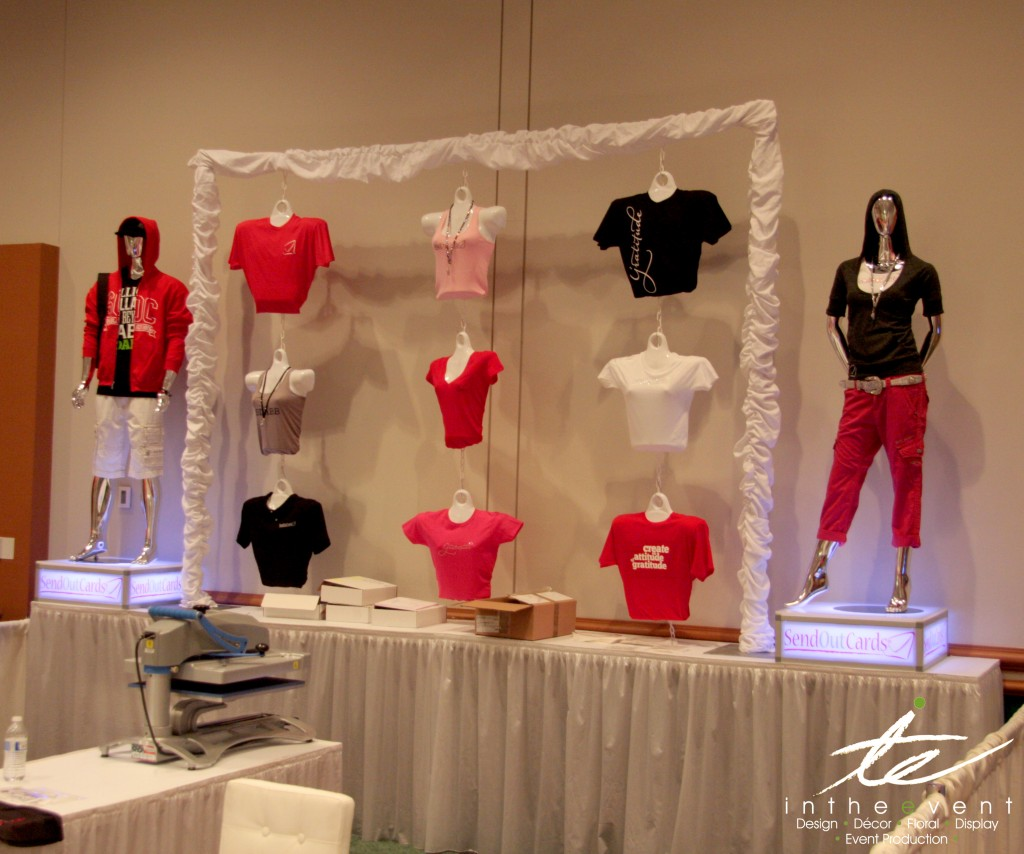 Apparel Tshirt Display Design Corporate Event Design Apparel Tshirt Display