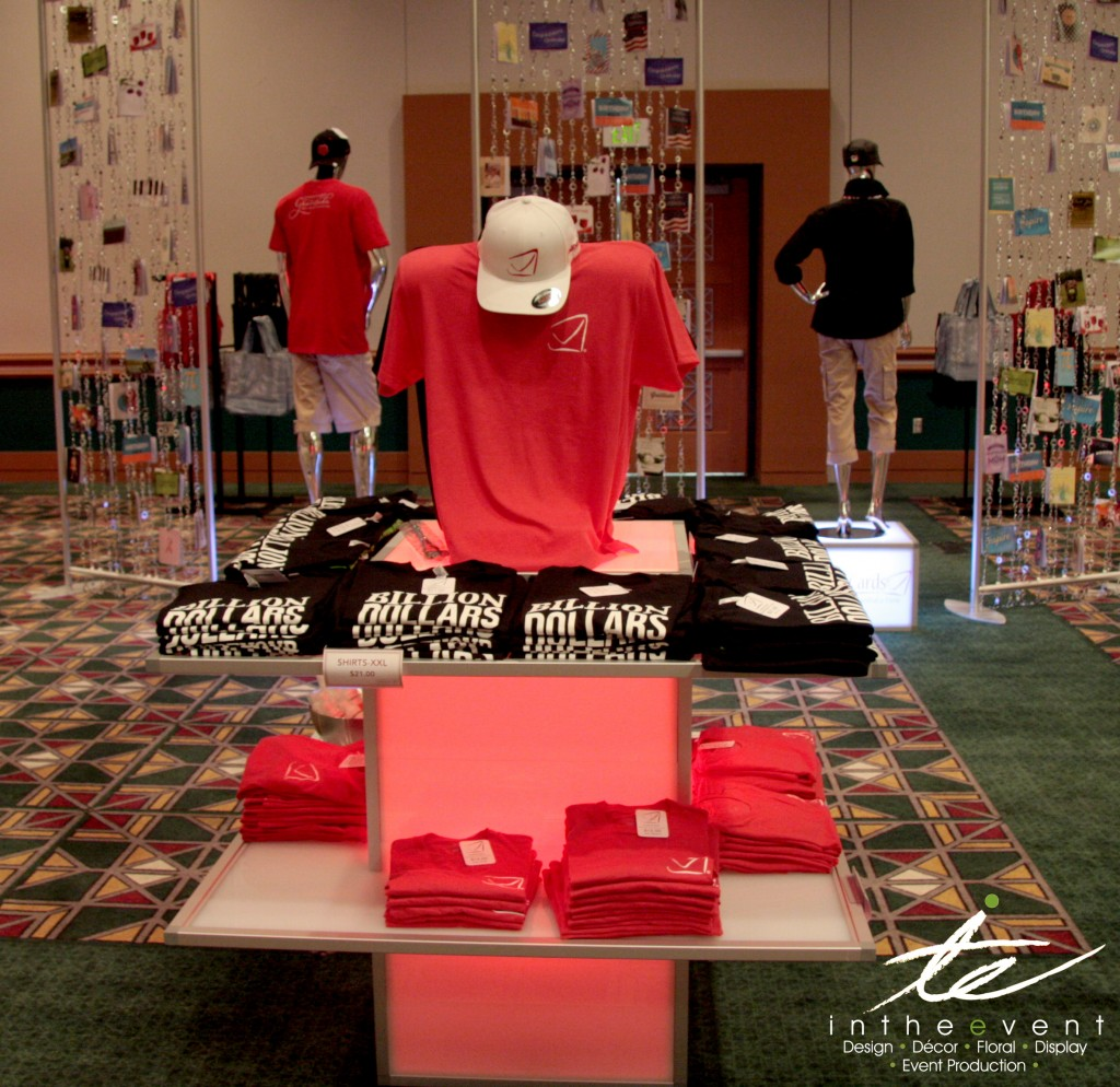 LED Apparel Tshirt Display Design Corporate Event Design LED Apparel Tshirt Display