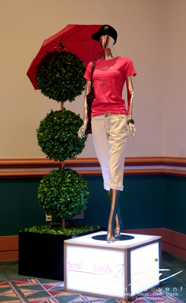 LED Mannequin Topiary Display Design Corporate Event Design LED Mannequin Topiary Display