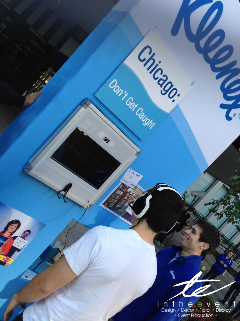 Ketchum Kleenex Chicago Checkpoint 51 Kiosk In The Event Designs Custom Kiosk for Client's Nationwide Campaign Ketchum Kleenex Chicago Checkpoint 51
