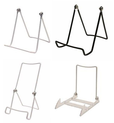 Assorted Black and White Wire Easels | Event Rentals