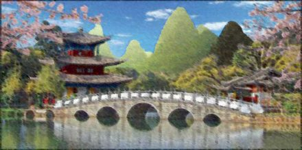 Chinese Scene Backdrop | Event Rentals