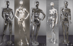 Female Chrome Mannequins | Event Rentals