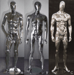 Male Chrome Mannequins | Event Rentals