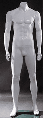 Male Polished White Mannequin | Event Rentals