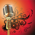 Microphone Backdrop | Event Rentals