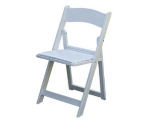 White Resin Folding Chair | Event Rentals