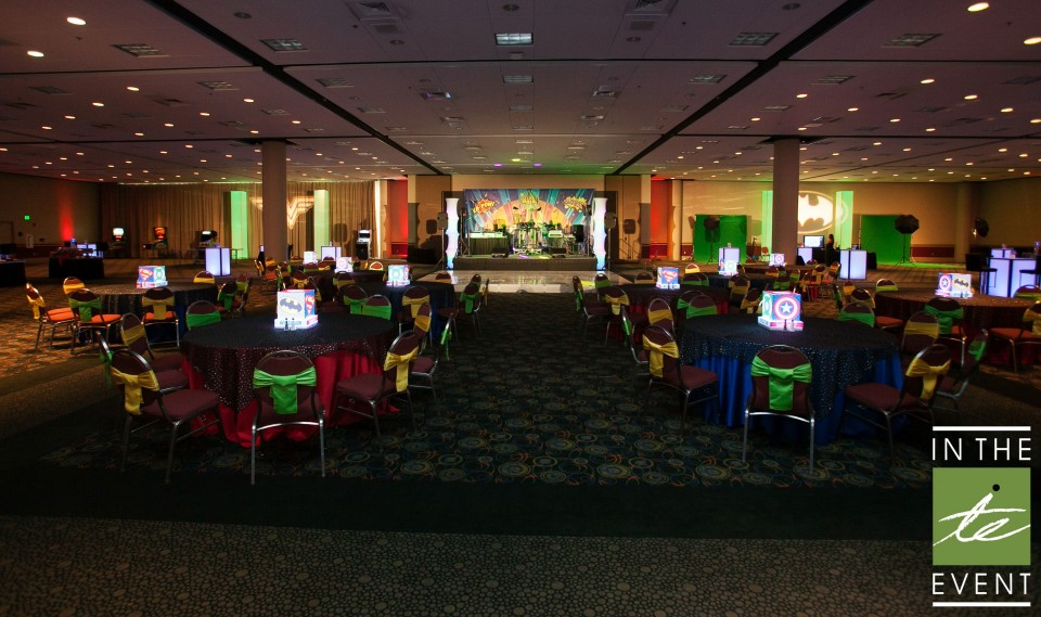 superhero themed party venue
