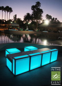 Event Design LED Furniture Sofa Rental Utah