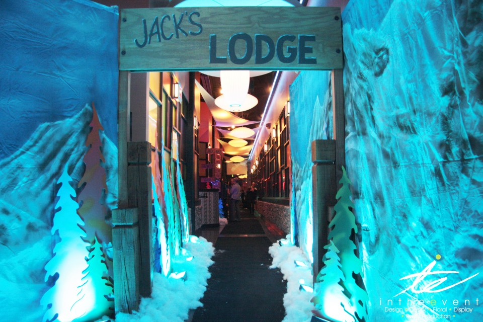 ski lodge themed party