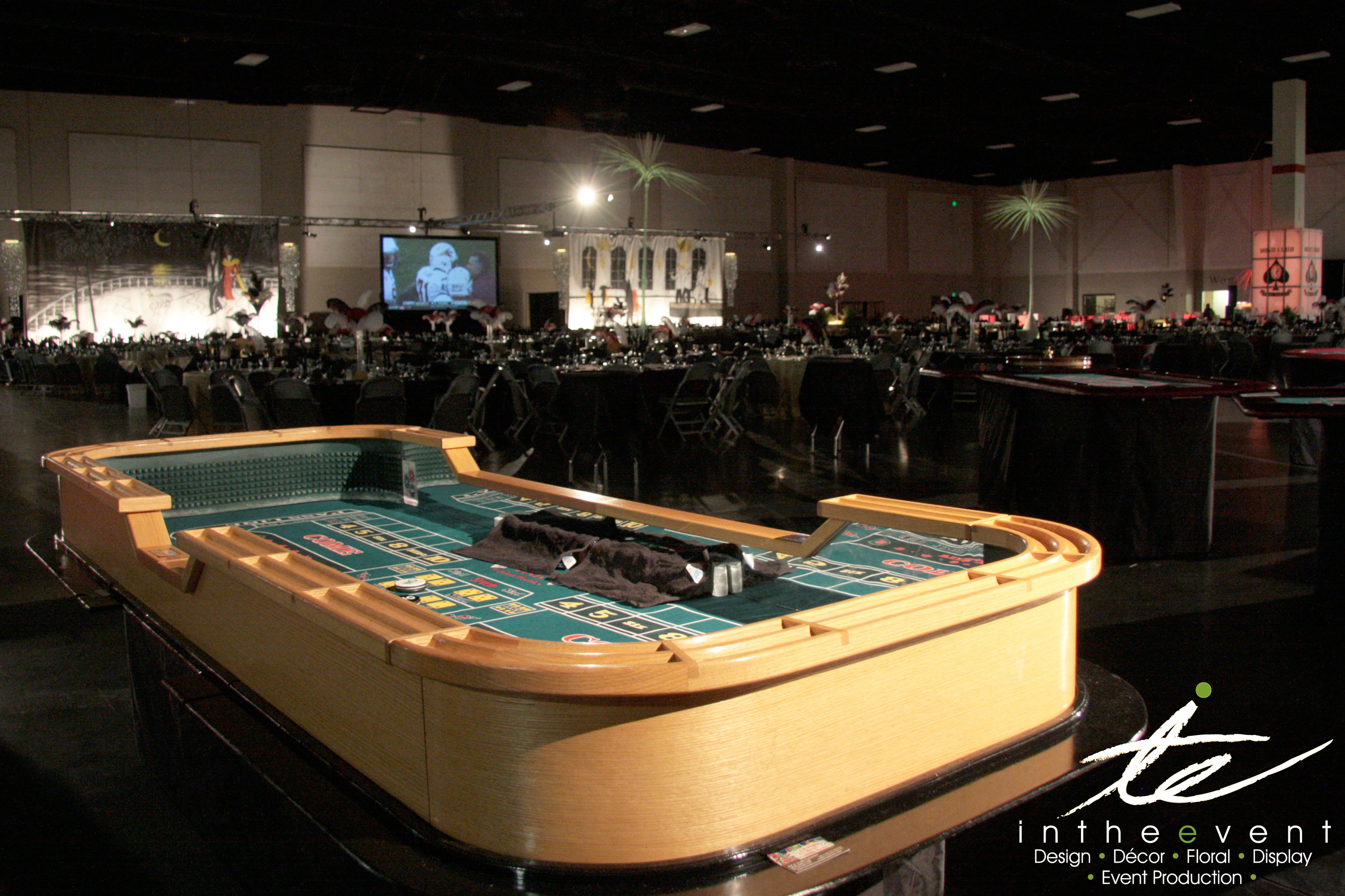 craps table game room gambling event
