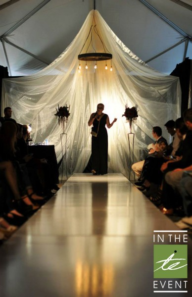 fashion show runway drapes