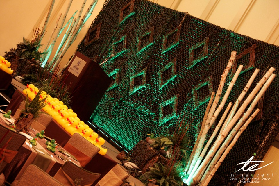 bamboo organic decoration themed event