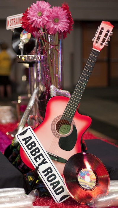 guitar record table centerpiece