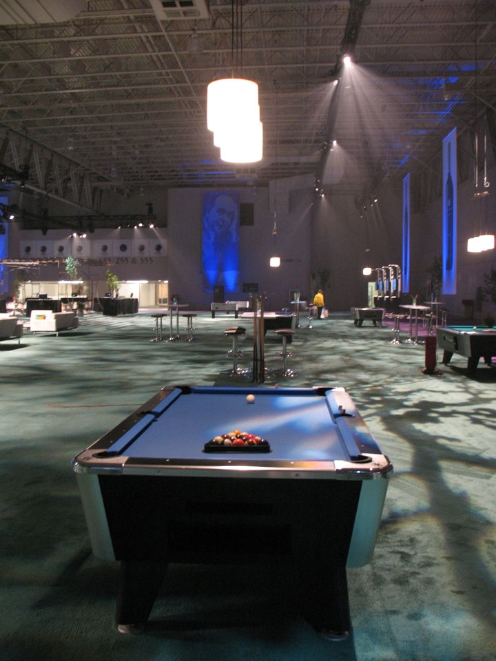 game room pool table event space