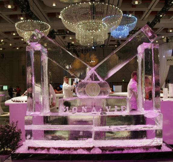 pink ice sculpture logo - Event Decorations