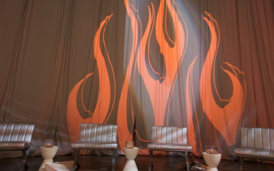 lounge space with flames