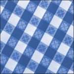 Blue Checker Linen