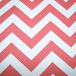 Coral White Chevron Fabric