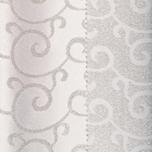 White & Silver Metallic Swirl