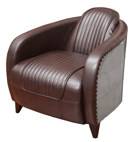 Aviator Leather Side Chair Rental