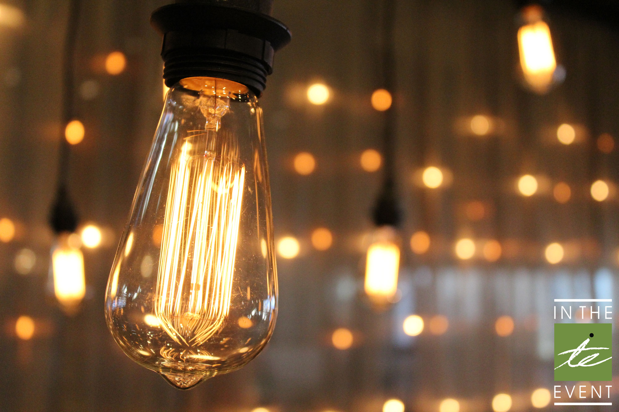 On Trend Vintage Edison Style Bulbs In The Event