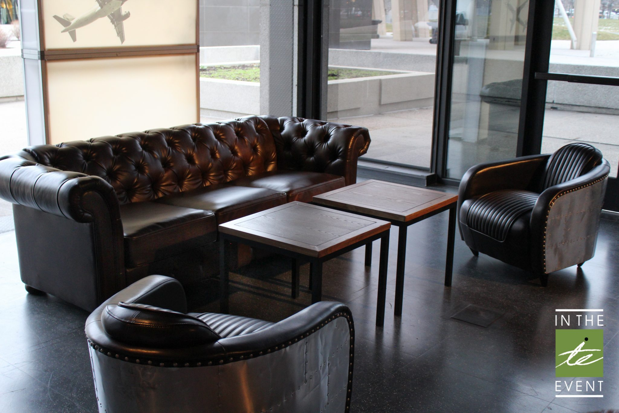 Aviator Leather Side Chair Event Rentals