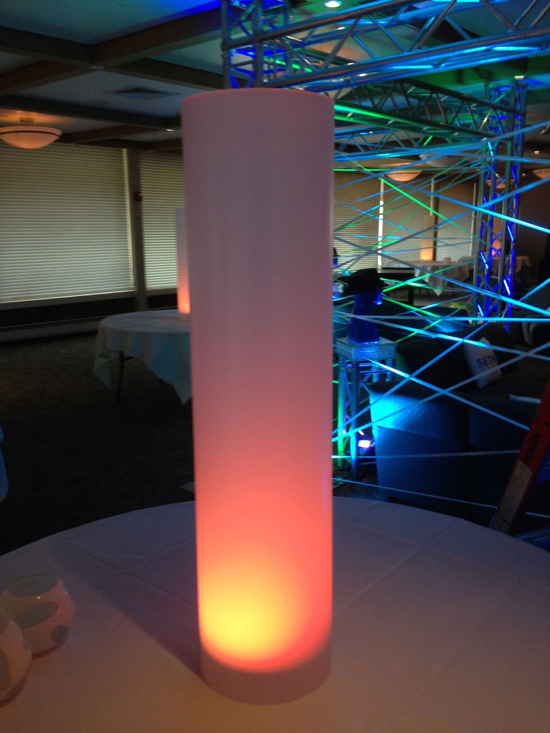 Led Acrylic Column In The Event