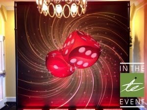 Casino Night Backdrop Casino Night Casino Night | Annual Red Party Red Party Dice Backdrop