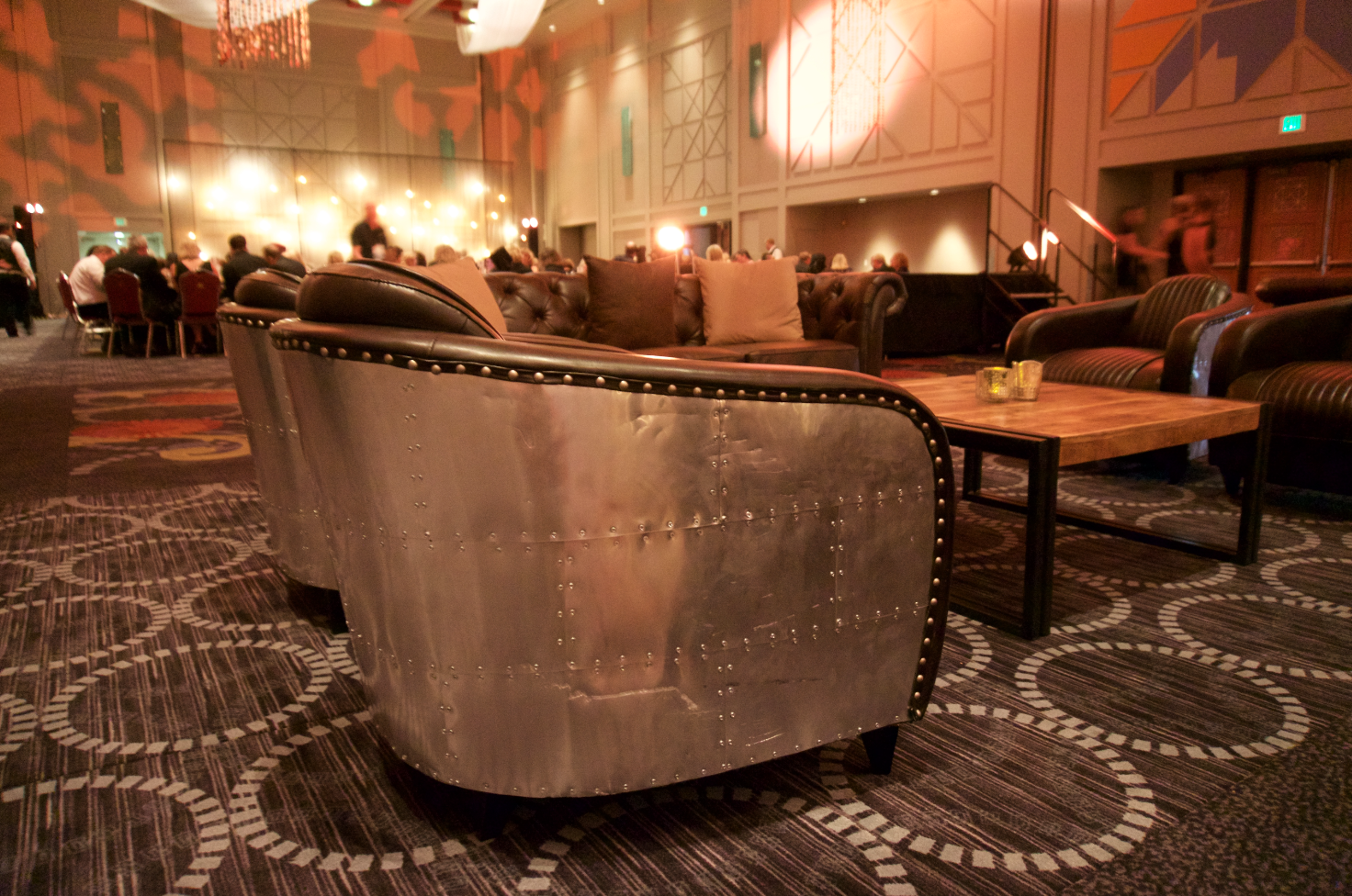 Aviator Leather Side Chair Event Rentals Worldwide