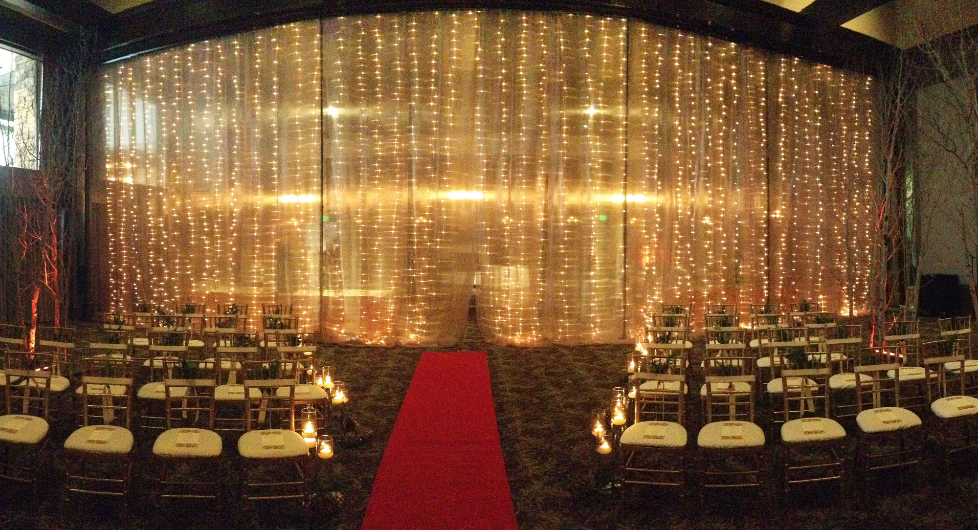Twinkle Light Wall Event Rentals