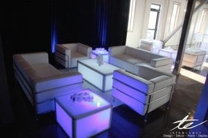 white leather sofas led furniture Beginner's Guide to Using LED Furniture at Your Next Event white leather sofas