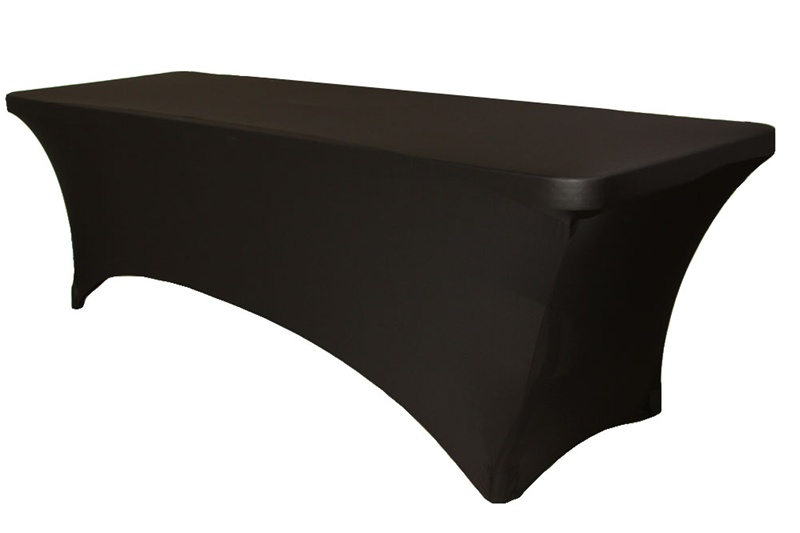 In The Event Black Spandex Rectangle Table Cover