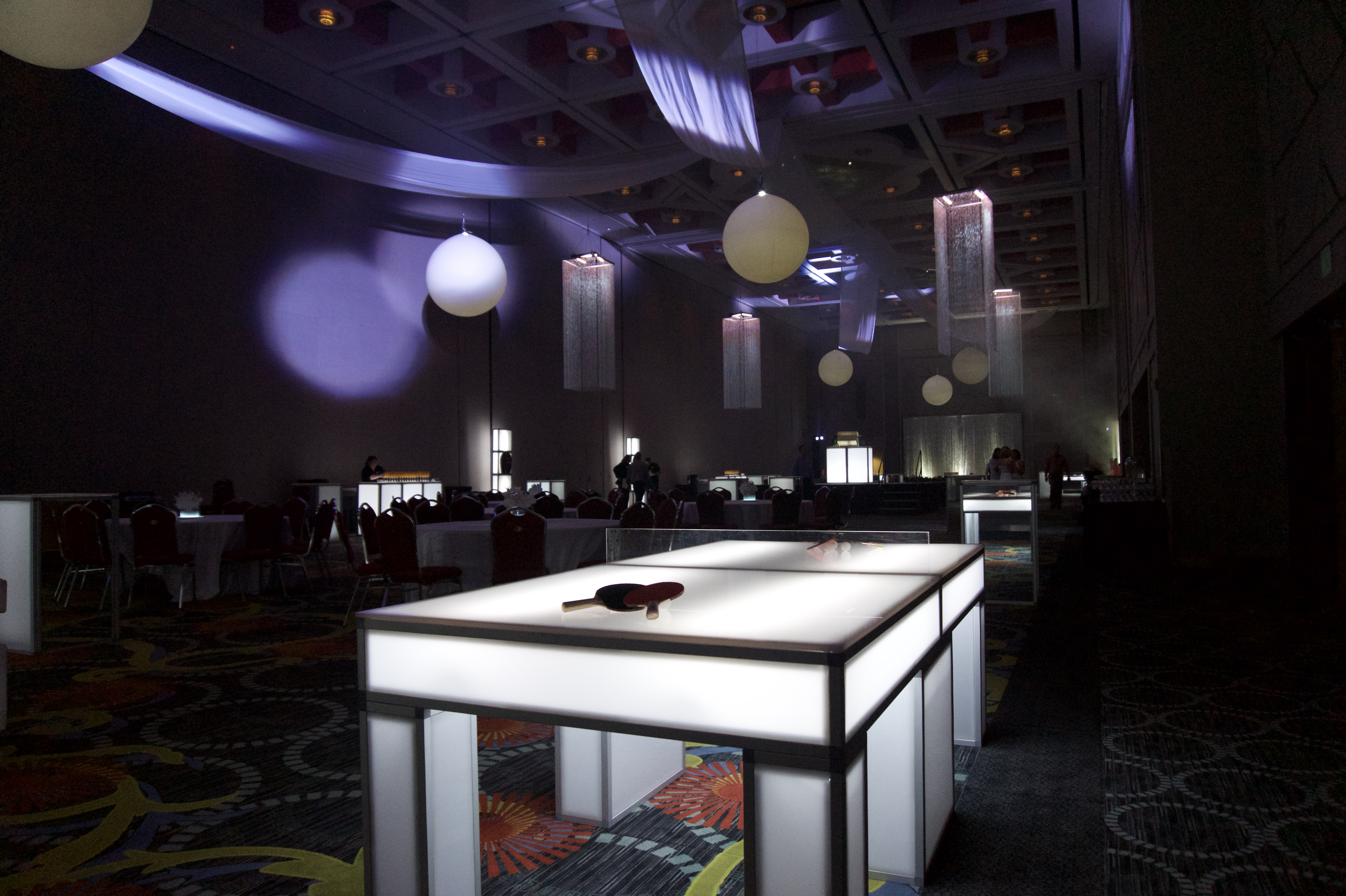 ... Game Rentals For Parties | White LED Ping Pong ...