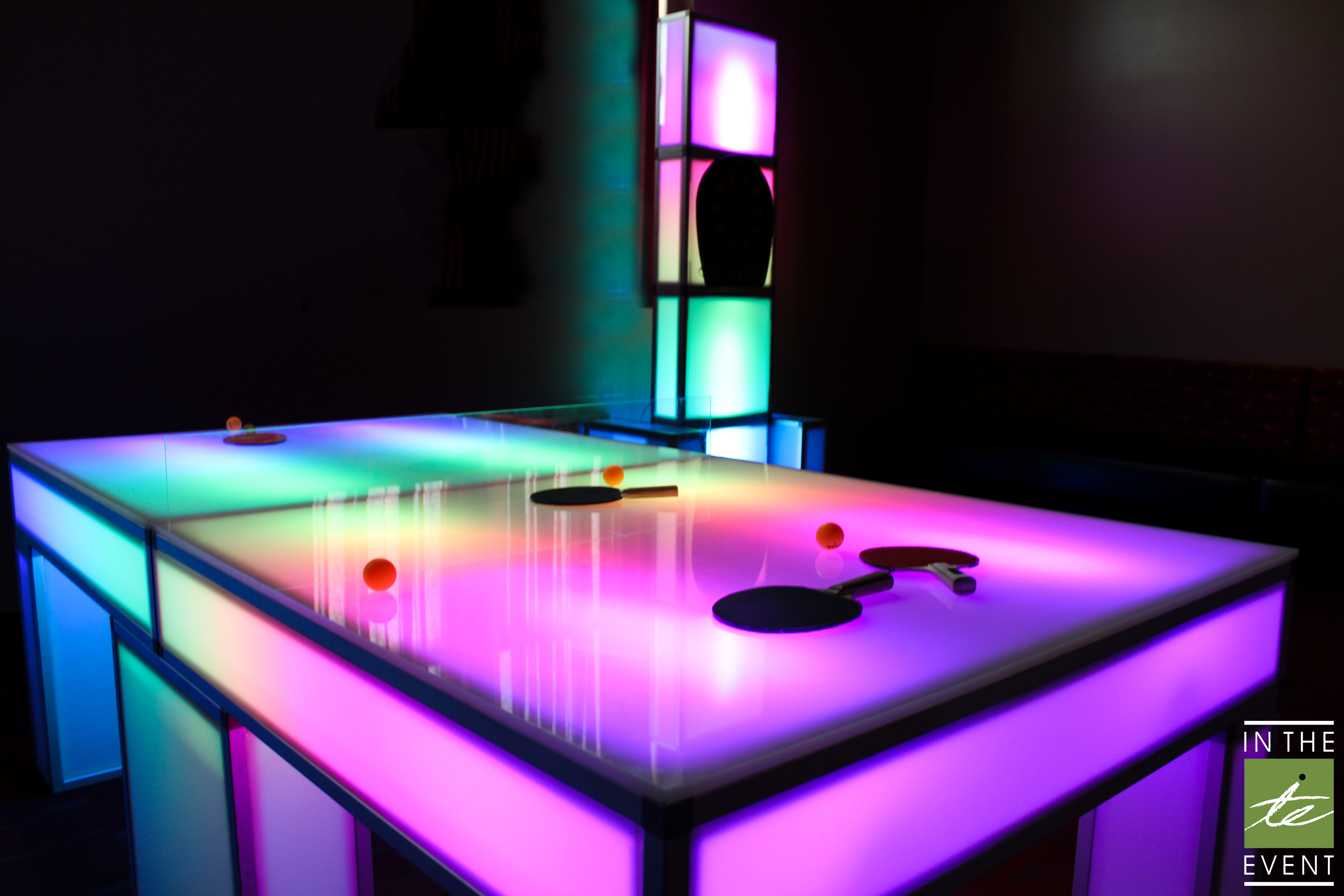Elegant Game Rentals For Parties | LED Ping Pong