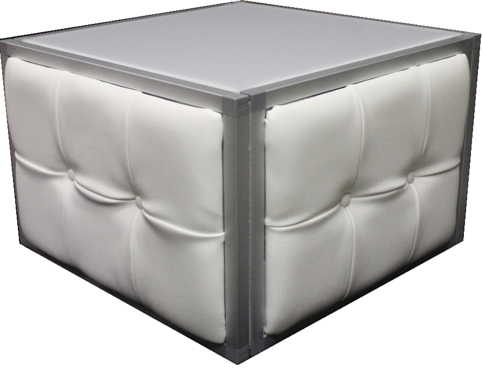tufted w silver side table