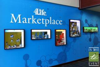 4Life Marketplace display case wall