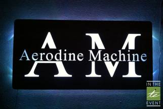 Aerodine Machine backlit sign
