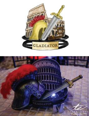 Gladiator centerpiece concept to creation