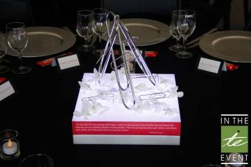 paperclip table centerpiece