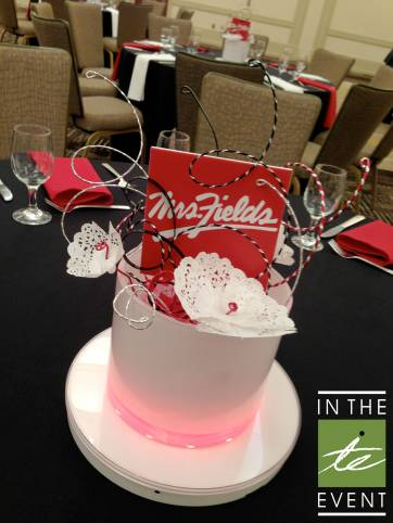 Mrs. Fields centerpiece