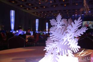 snow flake table centerpiece