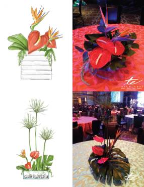 plant decoration centerpiece design
