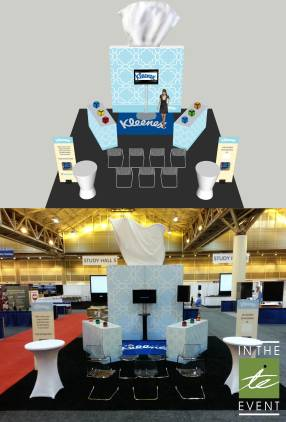 Kleenex booth before and after