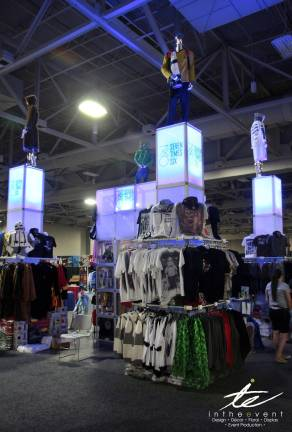clothing display glow stages