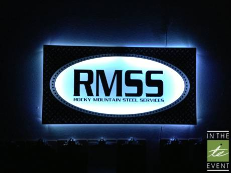 Rocky Mountain Steel Services glow sign
